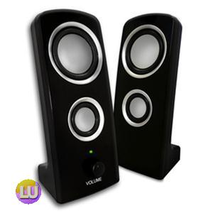 VIBE 2PC 2 X 1W (BLACK) USB Speaker S24911