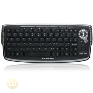 IOGEAR GKM681R Keyboard 2.4GHz Wireless Compact Keyboard with Optical Trackball