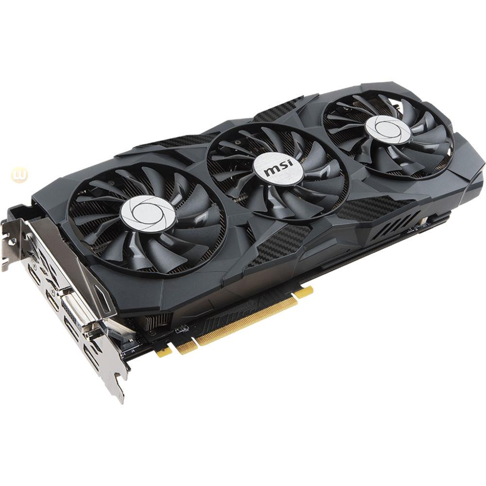 MSI GTX 1080 TI DUKE 11G OC Video Card, 11GB GDDR5X 352