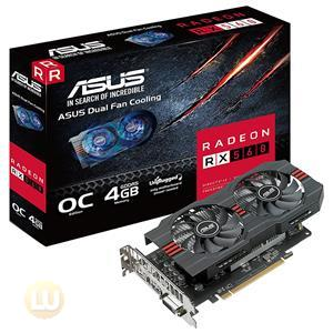 Asus AMD Radeon RX 560 Video Card, OpenGL 4.5, GDDR5 4GB, DVI, HDMI, DP