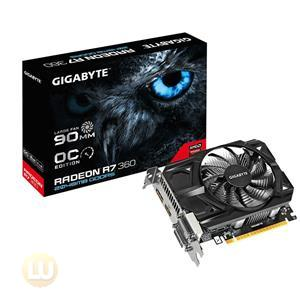 Gigabyte AMD Radeon R7-360 2GB GDDR5 Video Card DVI-I/DVI-D/HDMI/DisplayPort