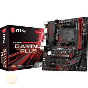 MSI B450M Gaming PLUS Motherboard, AMD AM4, Micro ATX, M.2, USB3.1, DVI, HDMI
