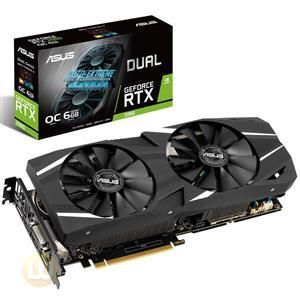 Asus Dual GeForce RTX 2060 OC Edition Graphic Card, Interfaces: DP, HDMI, DVI