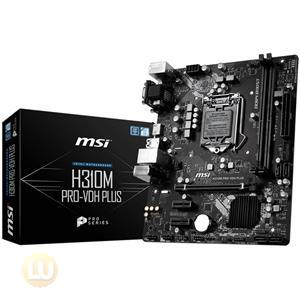 MSI Motherboard H310MPROVDHP H310M PRO-VDH PLUS S1151 Dsub/DVI/HDMI mATX Retail